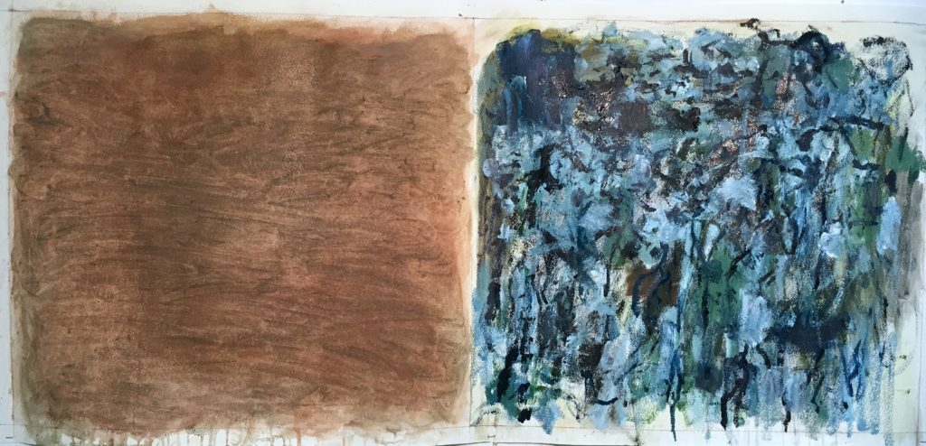 """Being Series - study #2, 24""""x54"""", 2016"""