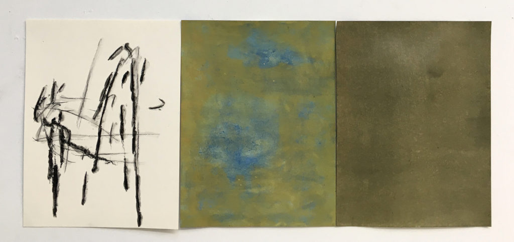 """Being Series - study #9, 24""""x54"""", 2017"""